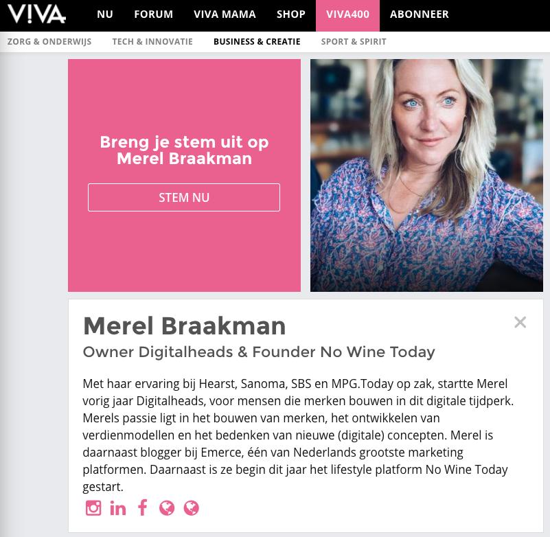 Viva 400 Merel Braakman